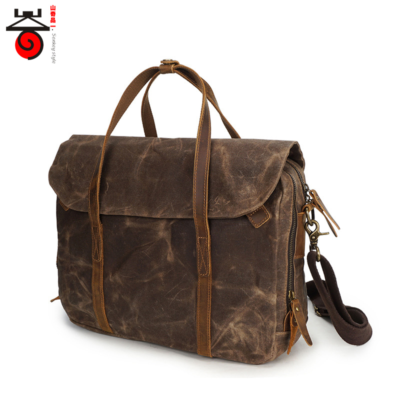 2018 High Quality Male Designer Handbag Vintage Men Business Crossbody Bag Waterproof canvas Men's Shoulder Messenger Bag high quality men canvas bag vintage designer men crossbody bags small travel messenger bag 2016 male multifunction business bag