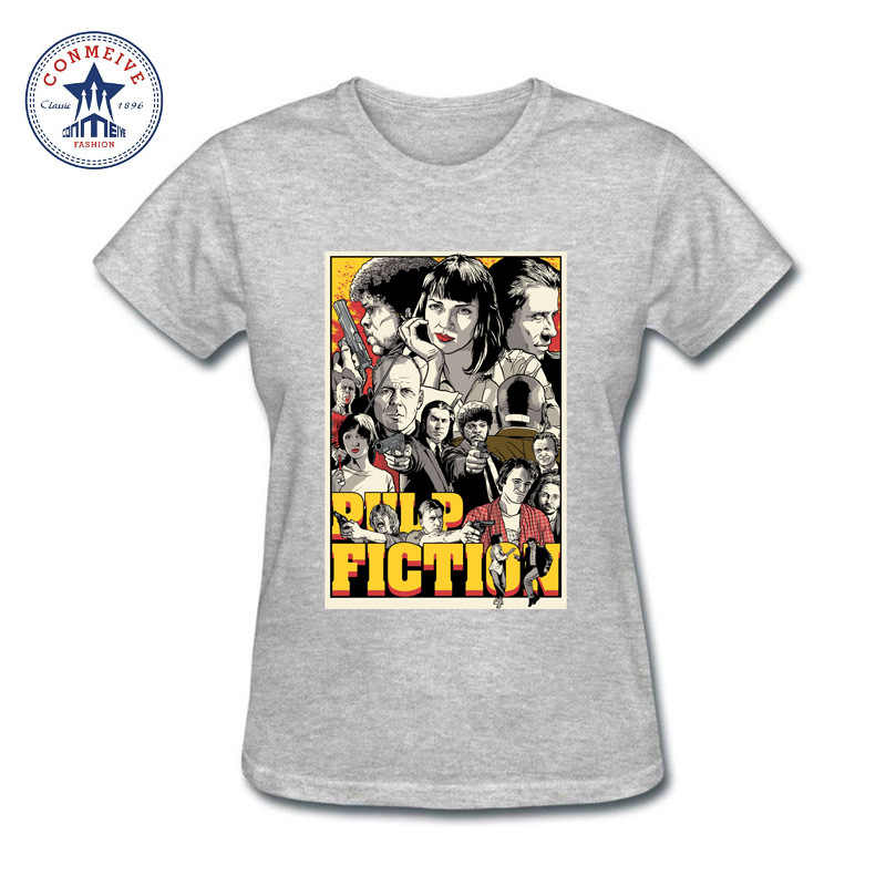 491d9a048 ... Teenage Youth Funny girl's pop art pulp fiction Cotton funny t shirt  women ...