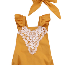 Cute Newborn Baby Girl Lace Romper Clothes Infant B