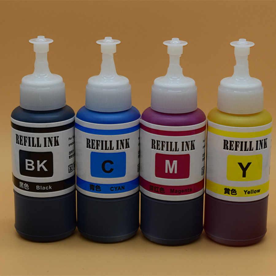 Isi Ulang Tinta Dye Kit Untuk Epson L-Series Printer T6641 Cartridge Isi Ulang Massal Tinta untuk Epson L355 Sistem Tangki inkjet Printer