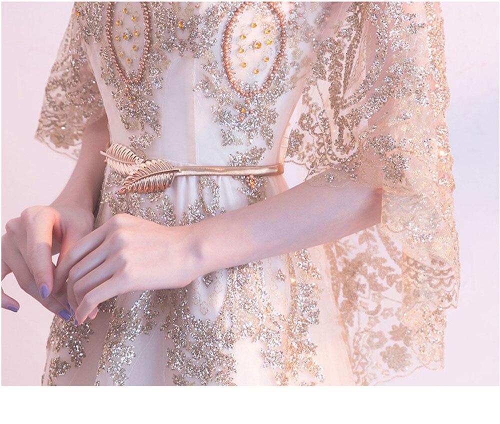 envoltório vestido perlen kleid xale manga vestidos