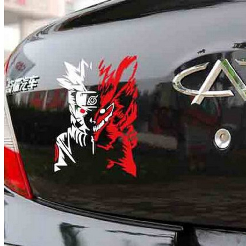 Naruto nine tail fox spare tire cover door stickers car stickers car decoration stickers cartoon - Cool door cars decoration ...