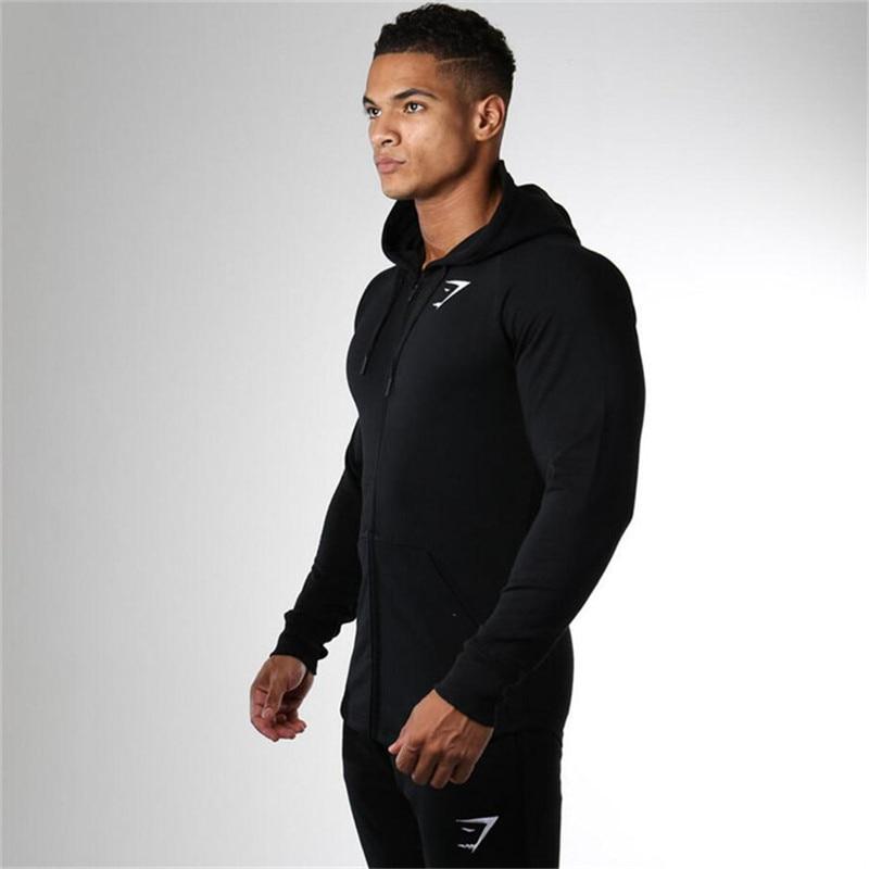 2017 новая коллекция весна gymshark толстовки мужские camisetas hombre пальто молния бодибилдинг размещений куртки кофты мускулистые мужчины спортивная