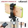 Ulanzi smartphone montaje de trípode de aluminio metel teléfono inteligente universal de trípode adaptador holder grip handle para iphone 7 plus android