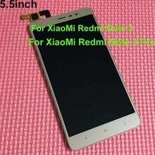 Negro/Blanco/Oro Pantalla LCD Táctil Digitalizador Asamblea + Frame Para Xiaomi hongmi Redmi nota 3 note3/Redmi Nota 3 Pro 150mm