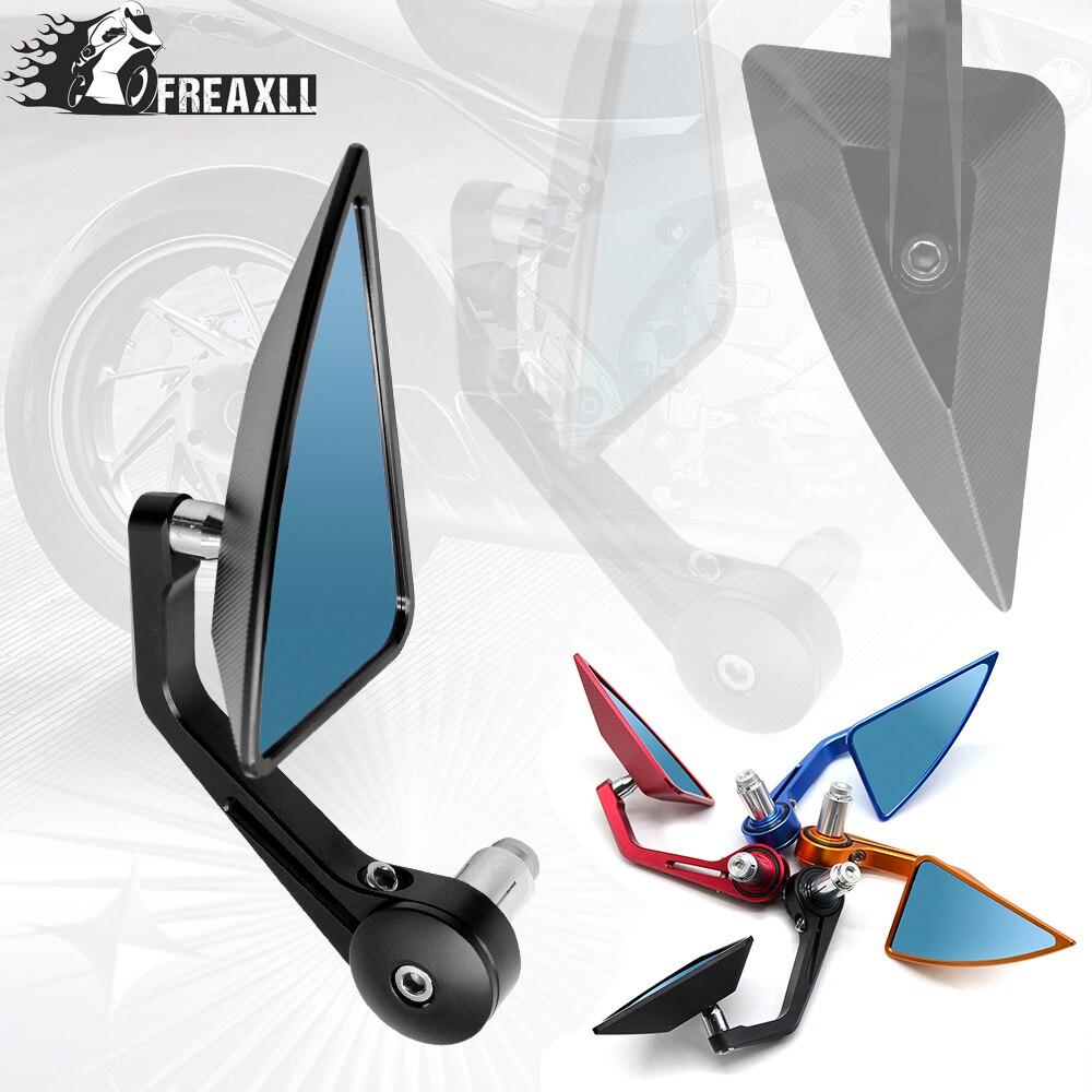 Universal 7/8 22mm handle bar motorcycle end mirror Motorcycle Mirror Accessories For Suzuki GSR 600 SV 650 Honda Shadow