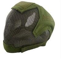 Frete Grátis Tactical Airsoft Máscara Overhead Máscara de Caveira de Caça Ao Ar Livre Jogo de Guerra Cs Máscara Engrenagem 8 Cores