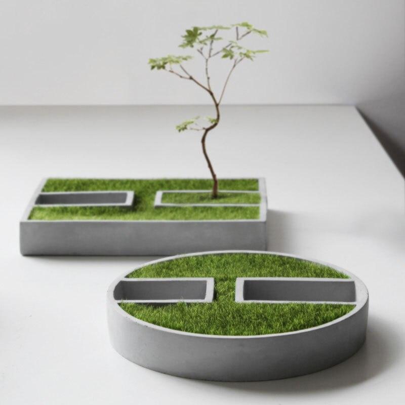 Petit bâtiment moule Pot de Fleurs BRICOLAGE bougie titulaire silicone moules planteur ciment pot rond moules Carré vase moule