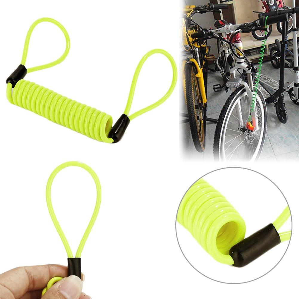 Anti Thief Motorbike bicycle Wheel Disc Brake Bag And Reminder Spring Cable lock