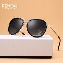 FENCHI Sunglasses Women Driving Pilot Classic Fashion Sunglasses High Quality Metal Brand Designer Diamonds Round Glasses