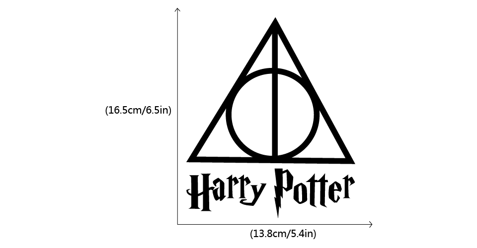 Harry Potter Car Sticker Deathly Hallows Symbol Car Decal In Car