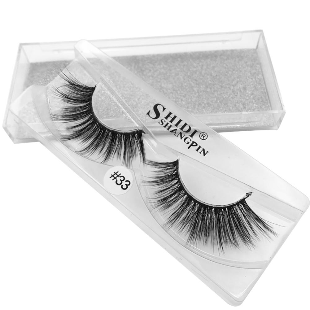 1 Pair 3D Mink Hair Thicker False Eyelashes Natural Long Soft Full Strip Fake Eyelash Beauty Makeup Handmade Lashes Extension