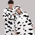 New Year gift Winter Pajama Sets 2016 Sleepwear Men Women Pajama Flannel Animal Cartoon Pajama Panda Style Onesies Hot Sell