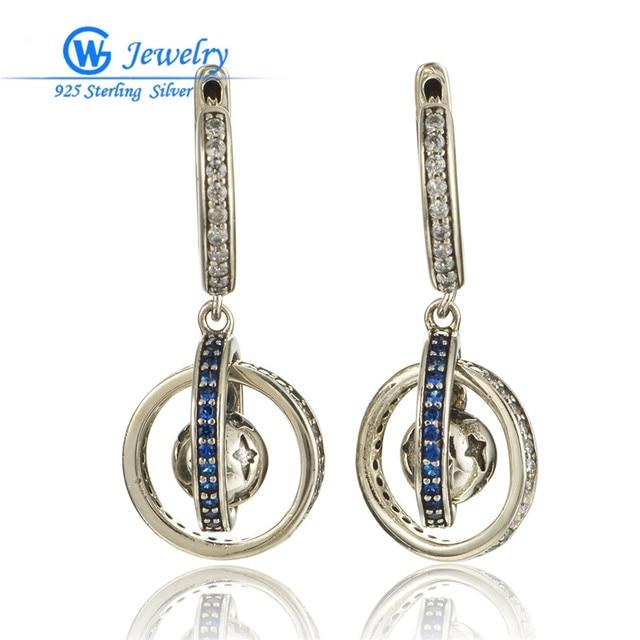 Gw fine jewelry 925 sterling silver gotas brincos para mulheres elegantes er1046h30 terra flutuante brinco hot sale brinco bijoux