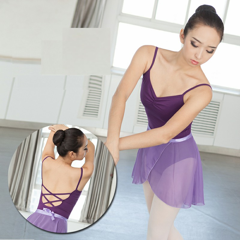 Ballet Dancewear Cotton Ballet Gymnastics Leotard Sling Ballet Leotards For Women Sexy Black Mesh Dance Leotards National Dance