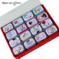 New Arrival Słodkie Blaszanym Pudełku 32 Sztuk/zestaw Mini Mac Kosmetyki Organizator Pojemnik Herbata Cukierki Skrzynki Do Przechowywania Biżuterii Christmas Gift Box