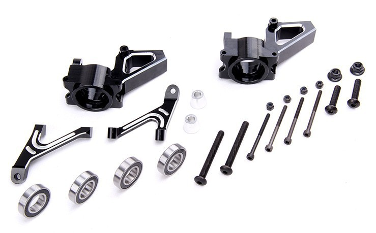 1/5 Baja New CNC Alloy front hub carrier Set for hpi baja 5b rovan km 851151 alloy front hub carrier set fit one car for hpi km rovan