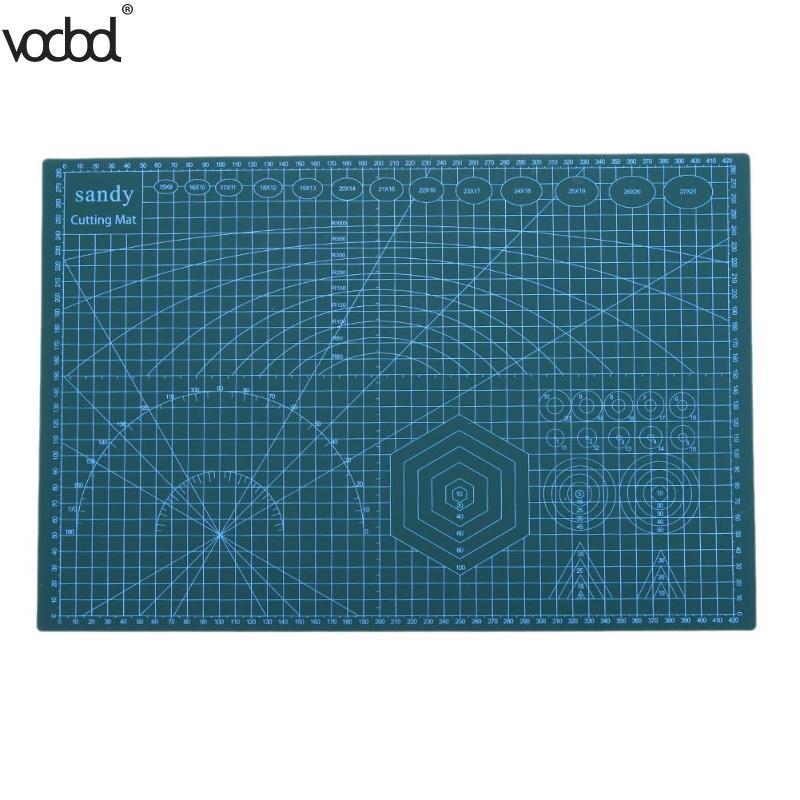 A3 PVC estera de corte de doble de Patchwork de lado auto-curación tela de cuero arte de papel antideslizante de corte de placa herramientas