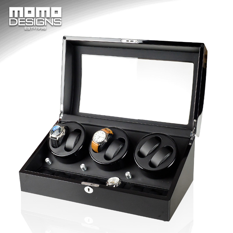 Watch winder for 6+7 Automatic watches Reel winder Japan MABUCHI motor with 5 model control Wooden bobbin winder box ultra luxury 2 3 5 modes german motor watch winder white color wooden black pu leater inside automatic watch winder