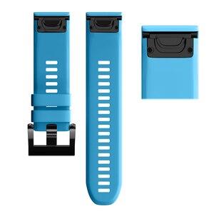Image 3 - JKER 26 22 20 مللي متر حزام الساعات ل Garmin Fenix 5X 6X 6 5 5s زائد 3 ساعة 3HR الإفراج السريع سيليكون Easyfit المعصم الفرقة حزام