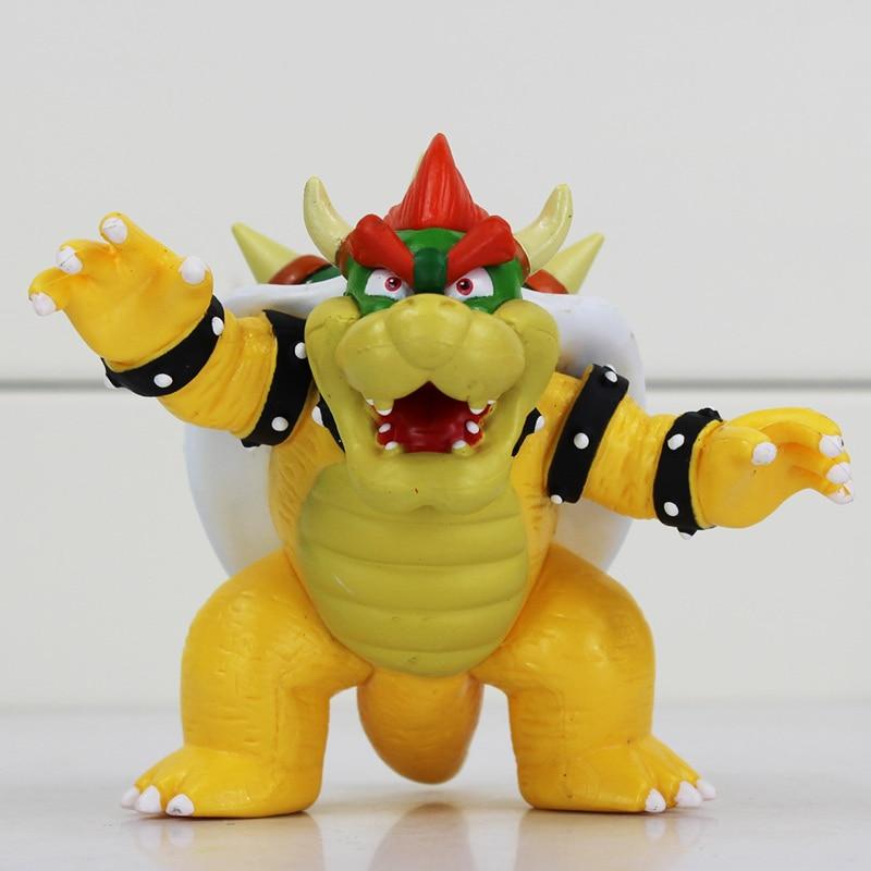 1Pcs 8cm Koopa Bowser Figure Toy Super Mario Bros Koopa Figures Dolls Toys Free Shipping