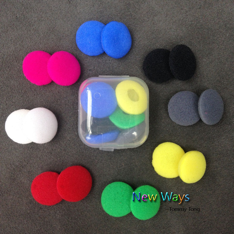 10pairs Foam Ear Pads For Earphones Sponge Bluetooth Earphone Replacement Headphones Earpads Headphone Covers Eartips Earcaps