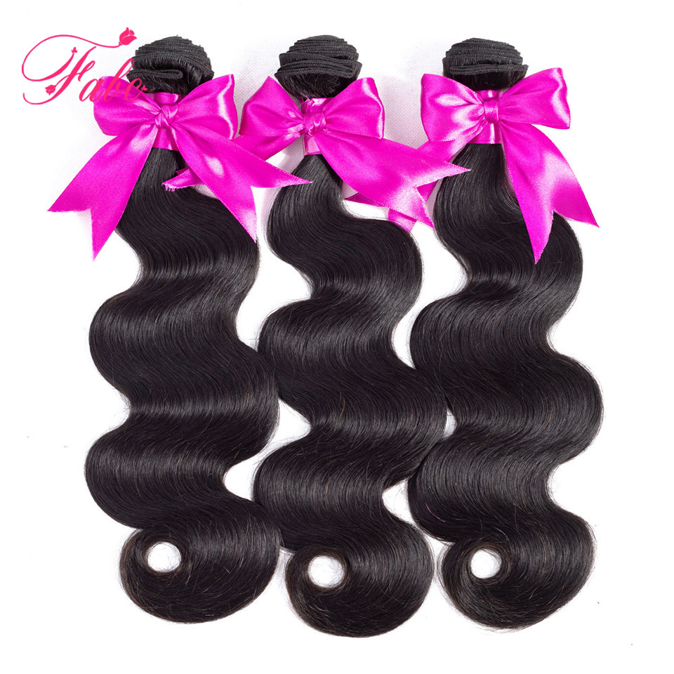 Fabc Hair Brazilian Body Wave Hair Weave Bundles Non Remy 10-28 Inch Hair Extensions 1/3/4 Pcs Natural Black Human Hair Bundles