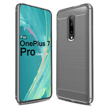 Ultrathin Slim Fiber Carbon Silicone Rugged Case Cove For Oneplus 7 Pro 6.7 inch Dropshipping May18