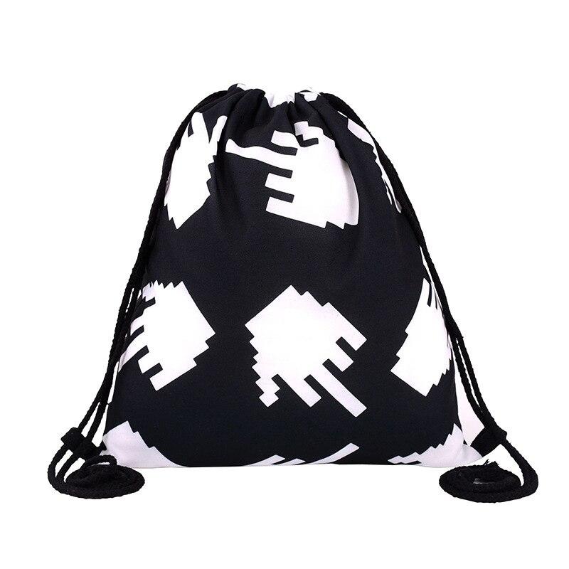 2017 Girls backpack schoolbag birthday gift mochila drawstring bag for kids childs Printing Polyester Boys backpack Beach bag