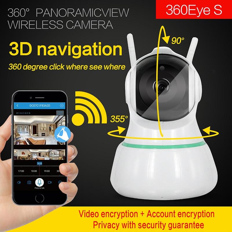 3D Navigasyon 360 Derece Panoramik VR Kamera 1080 p Kablosuz Interkom IP Kamera3D Navigasyon 360 Derece Panoramik VR Kamera 1080 p Kablosuz Interkom IP Kamera