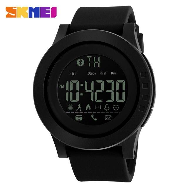 SKMEI 1255 Men Women Bluetooth Smart Watch Calorie Pedometer For Apple IOS Android Hours  50M Waterproof Digital Mens SmartWatch