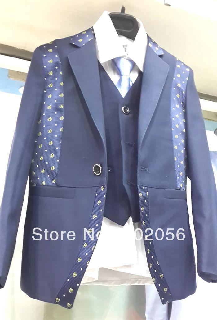 Boys Wedding Suits Formal Party Tuxedo Groom Jacket+Pants+bow Tie/necktie+vest+shirt WAISTCOAT ...