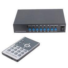 Détails sur 4CH CCTV caméra vidéo processeur Quad Video Splitter VGA sortie w / télécommande