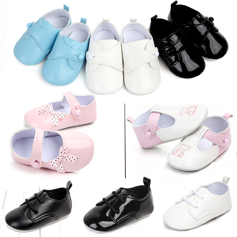 Shoes 0 1 Year Non Slip Soft Bottom Baby Study Walking Shoes England Wind Small Leather Shoes Woman Princess Single Shoehorn
