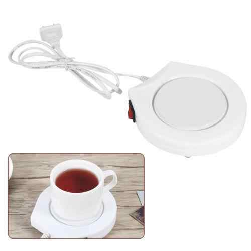 New White Electric Powered Cup Warmer Heater Pad Coffee Tea Milk Mug US Plug Ceramic +Electronic Component Cookware Parts