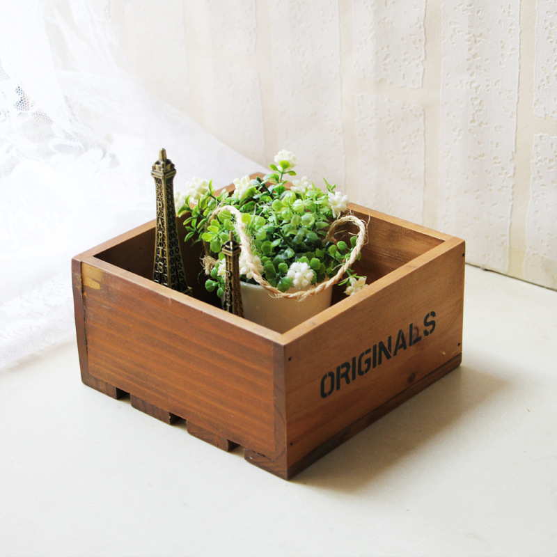 office planter boxes. zakka storage boxes solid wood japanese simple style ecofriendly office organizer succulent planter flowerpot