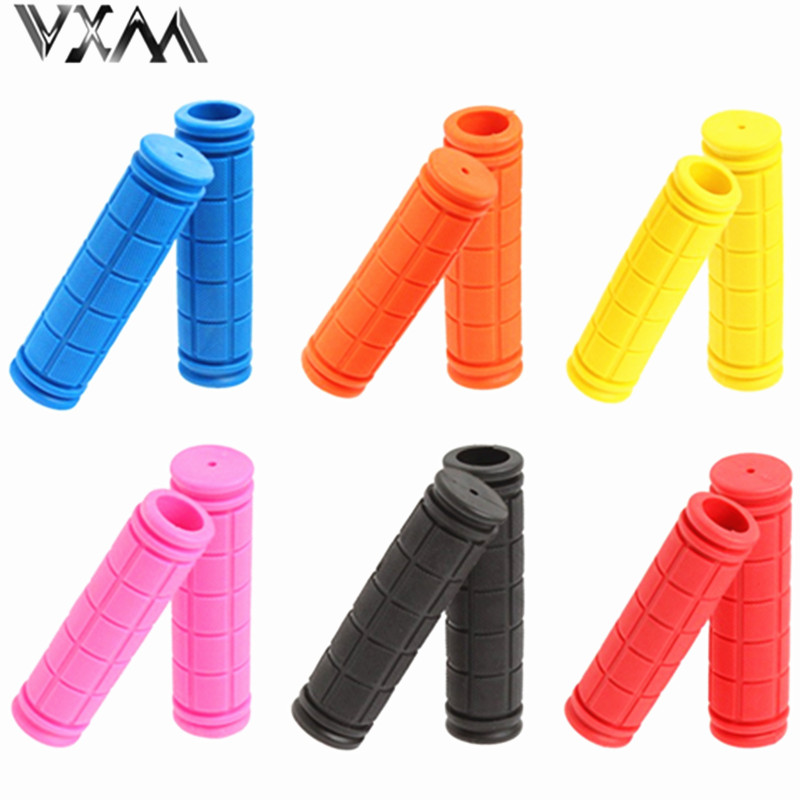 Cycling BMX MTB Road Mountain Bicycle Bike Soft Rubber Handle Bar Handle Grips 1 Pair Mountain Bike Handles 10 Different Colors