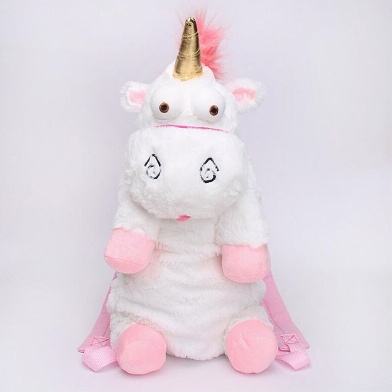 45cm And 60cm Fluffy Unicorn Plush Shoulders Bag Animal Soft Stuffed Plush Backpack Bag For Children Gift motorcycle flag pole luggage rack vertical american for honda goldwing gl1800 2001 2011