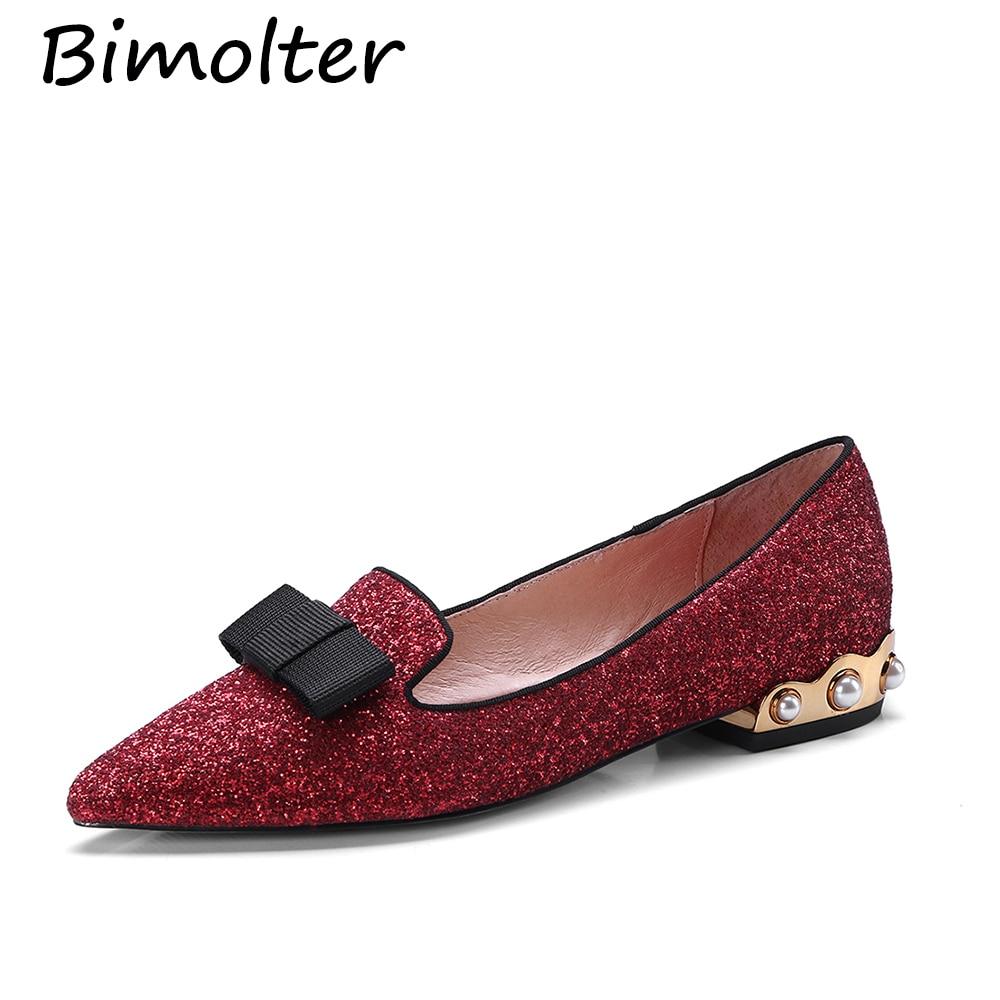 Bimolter Echtes Leder Flache Schuhe Frau Schaf Wildleder Loafers - Damenschuhe - Foto 3