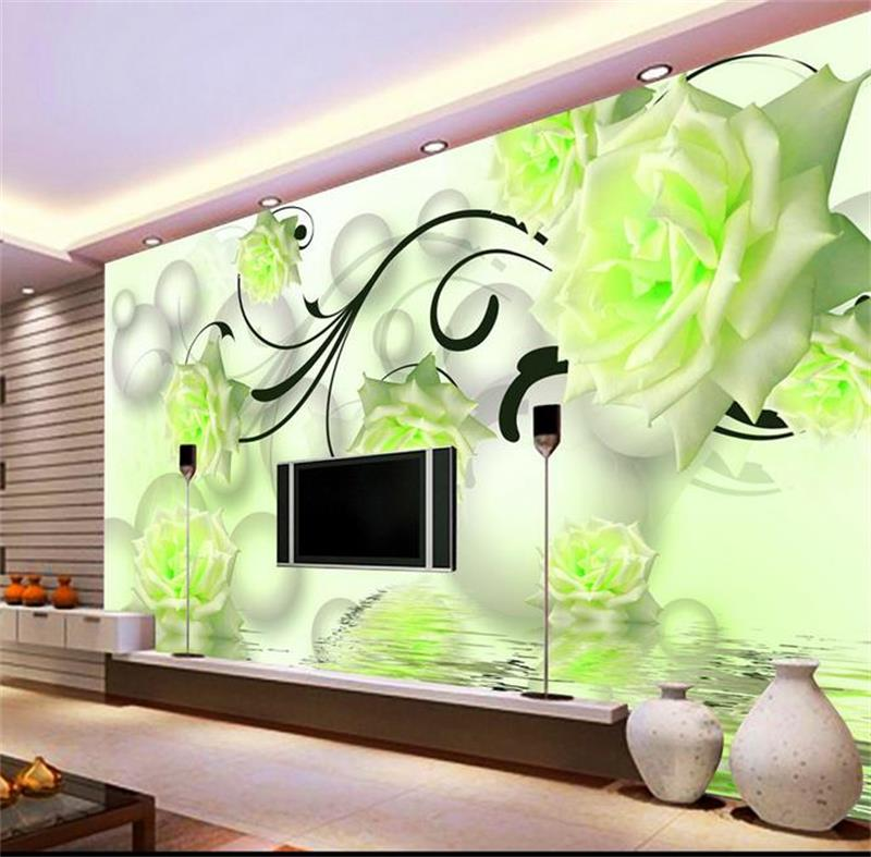 3d Room Wallpaper Custom Mural Non Woven Wall Sticker 3d Rose