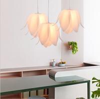 Ресторан люстра современный минималистский люстра необычная люстра lotus люстра светодио дный осветительное оборудование светодио дный лам