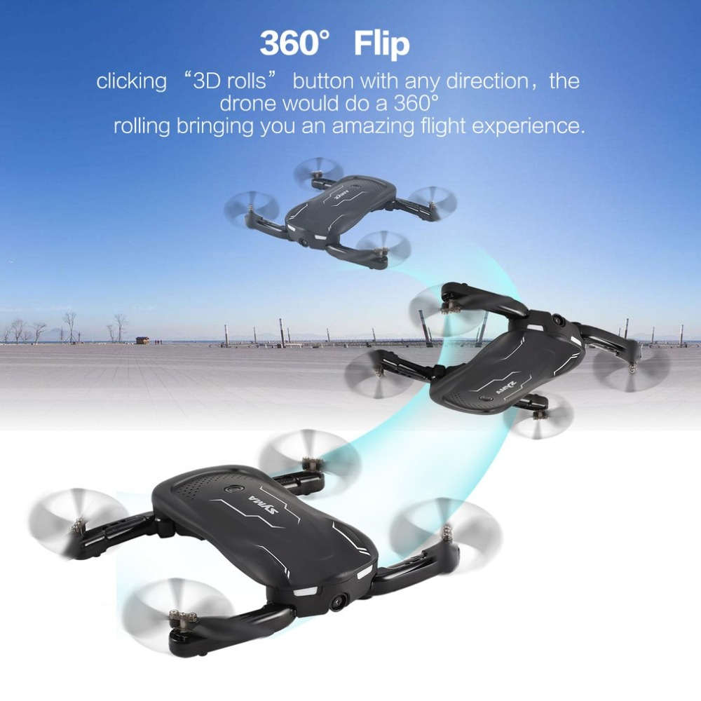 цена на Syma Z1 2.4G FPV Foldable Drone Smart RC Quadcopter with 720P HD Wifi Camera Real-time Altitude Hold Optical Flow Positioning