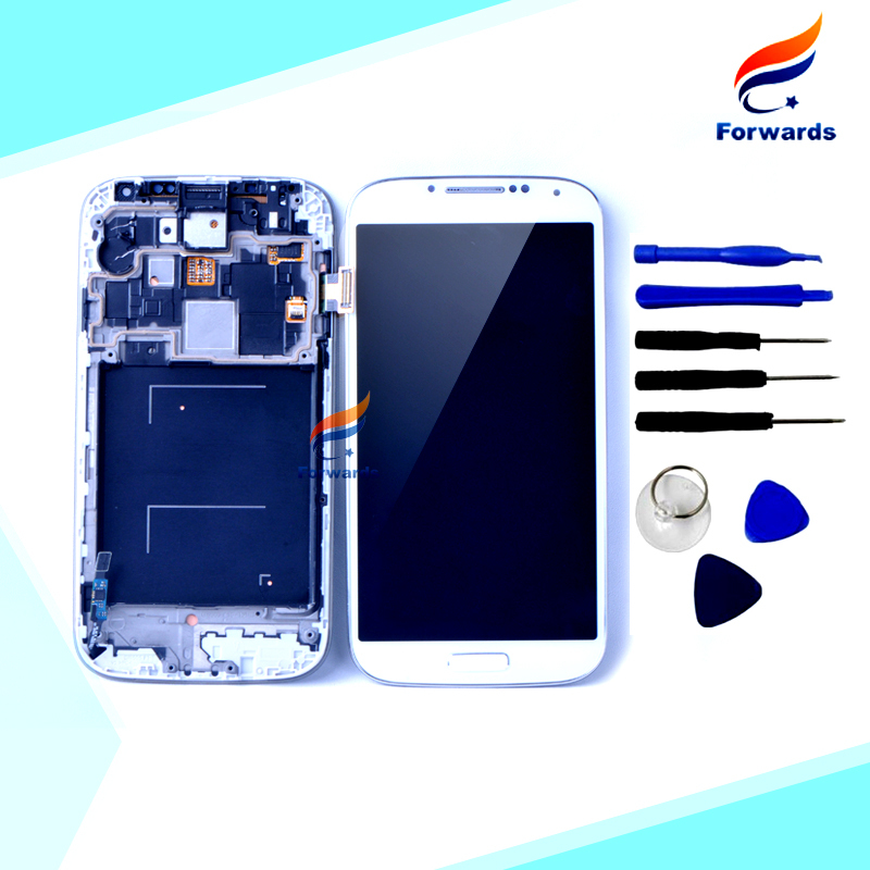 Replacement Parts for Samsung S4 i9500 i9505 Lcd Display with Touch Screen Digitizer Frame Tools Assembly 1 piece free shipping