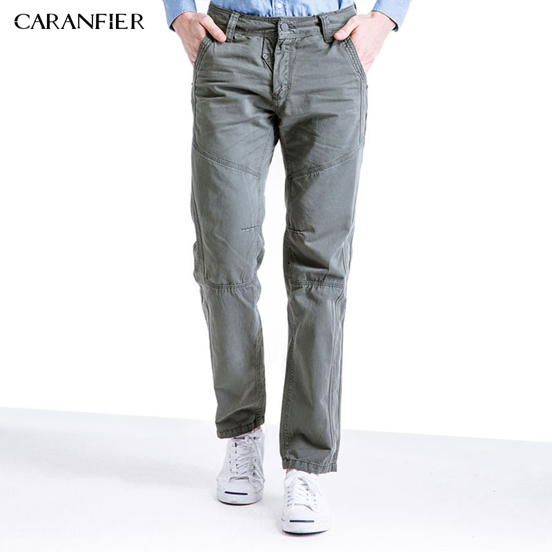 CARANFIER Tactical Men Casual Pants Cargo Uniform Pants Combat Army Active Military Ankle-length Work Male Trousers Windproof