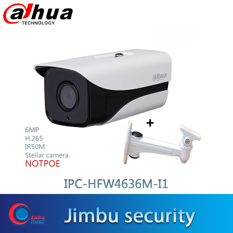 starlight Dahua 6MP IPC HFW4636M I1 3DNR WDR Local Alarm H 265 IR50m with bracket multi