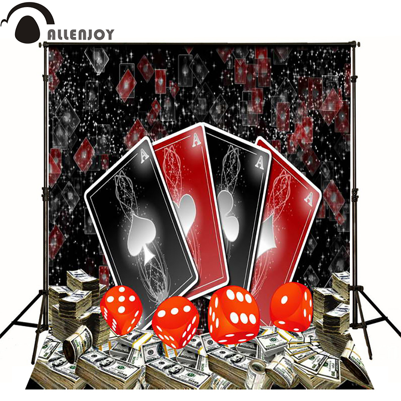 Allenjoy photographic background Poker Casino Dice black and red photo backdrops for sale Computer printing fotografia party 7pcs promotion 2 color dice set with nebula effect poker d
