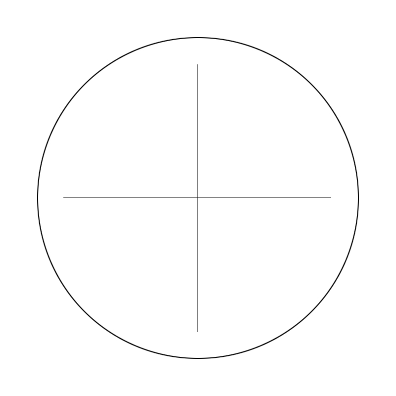 Micrometer Reticle Ocular Eyepiece Cross Calibration Slide With Horizontal And Cross Line For Microscope Telescope