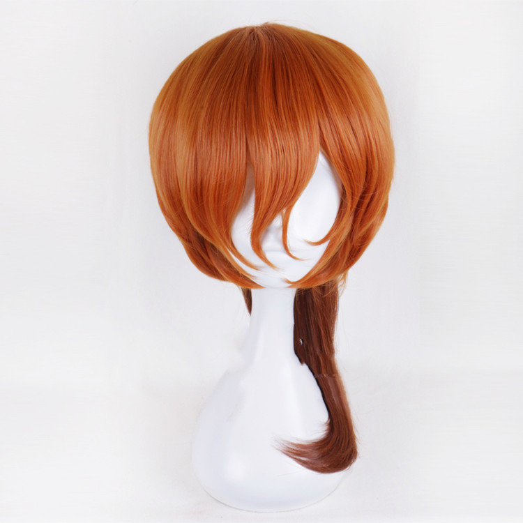 Anime Bungo Stray Dogs Chuya Nakahara Chuuya wig Cosplay Costume Men & Women Hair Halloween Party wigs+hairnet