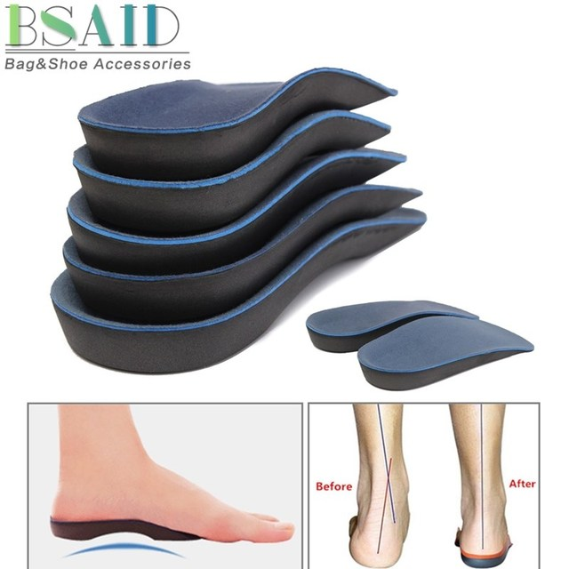 f96312d47c BSAID 3/4 Orthotic Arch Support Insole Height Increase Insoles velour EVA  Shoe Cushion Pad Running Feet Pronation Fallen Unisex