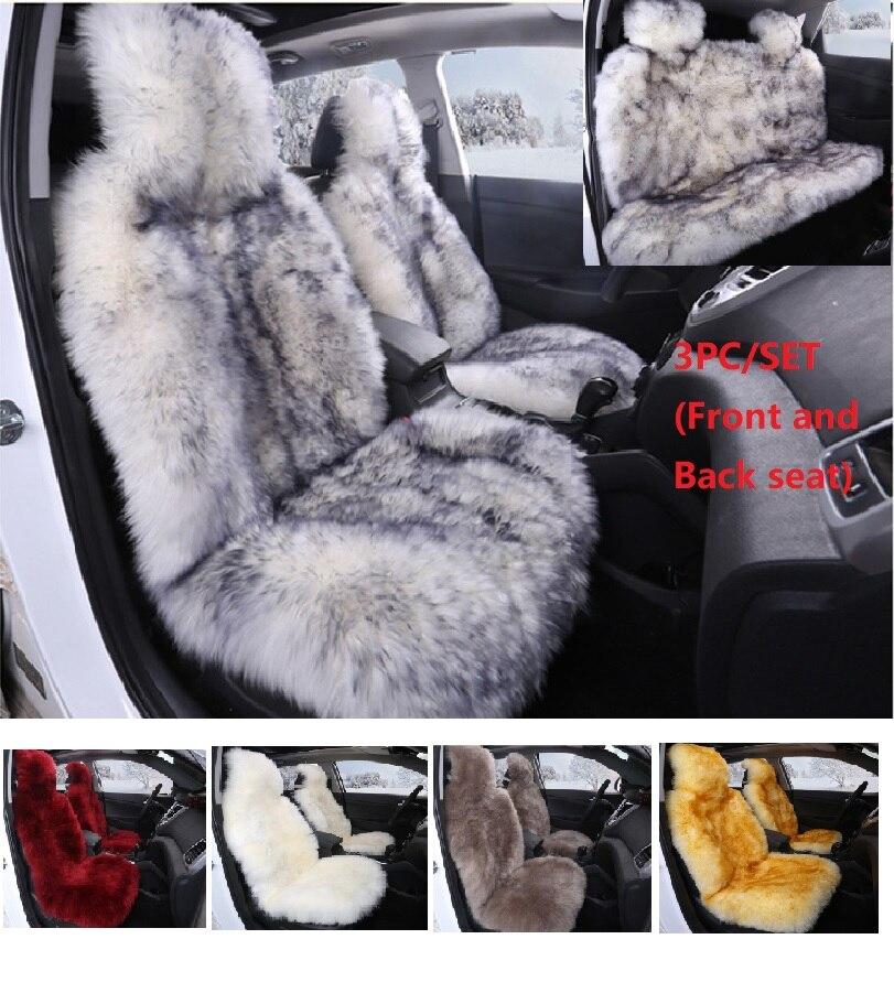 JXLCLYL 100% Австралийский чистый натуральный мех сиденья 5 мест весь автомобиль сиденья из овчины зима автомобиля подушки